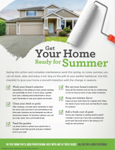 Getting Your Home Ready for Summer